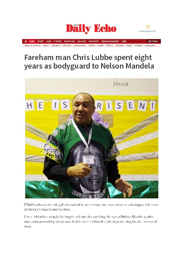 My time as Nelson Mandela's bodyguard